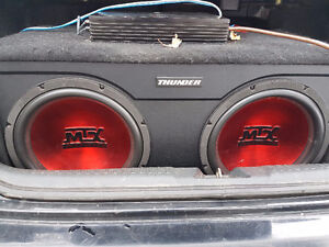 """mtx thunder 12"""" subs and amp"""