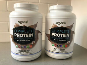 2 NEW Bottles of Organifi Complete Protein Meal Replacement
