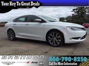 2016 Chrysler 200 C - Low Mileage, Leather Seats, 8.4 Touch Scre