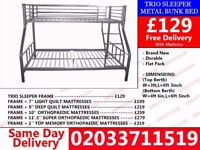 ***WOW Offer Brand New single and double Trio Bunk Bed*** Westdale
