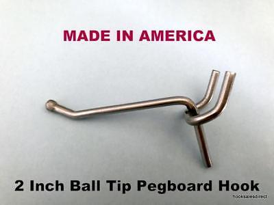 10 Pack 2 Inch All Metal Peg Hooks 18 To 14 Pegboard Slatwall Garage Kit