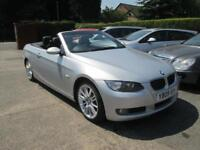 2009 BMW 325 D Se Highline Convertible Auto, Met Silver Black Leather