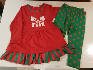 Girls size 4/5 Christmas outfit