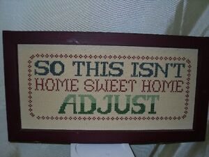 Hand Embroidered sign