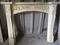 Fireplace / back and hearth