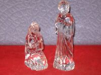 Mary & Joseph Nativity Figurines WATERFORD Crystal