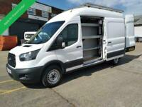 2017 67 FORD TRANSIT LWB HIGH ROOF L3 H3 EURO 6 - 6 SPEED 130 TDCI WITH SIDE LOA