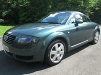 Y/01 AUDI TT QUATTRO 225BHP COUPE IN MET GREEN WITH AUDI SERVICE HISTORY
