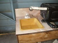 Sink,Water tank and coumter top from tent trailer