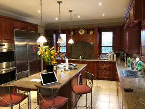 Kitchen Cabinets with Granite Countertops & Wolf Stove Top