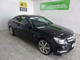 BLACK MERCEDES C CLASS 2.1 C220 CDI BLUEEFFICIENCY AMG SPORT ***from £247 p/m***
