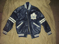 Toronto Maple Leafs Leather Jacket Rare Vintage