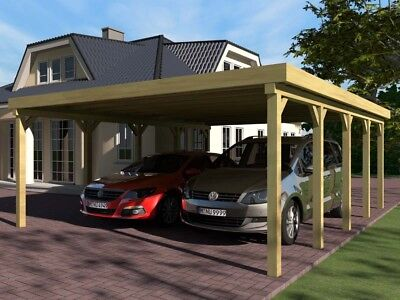 Carport Flachdach SILVERSTONE V 600x800 cm Bausatz