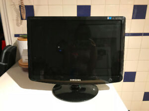 Samsung monitor with cables - $40