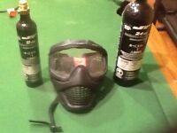 Paintball mask and two large tanks $30