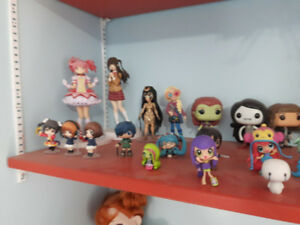 Figure Collection including; funko pop, dc, marvel, fnaf, anime