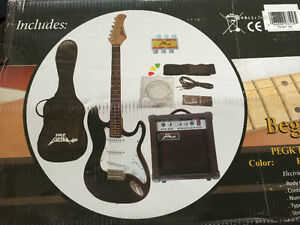 New Pyle Electric Guitar Set