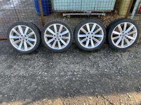 """Set of four 18"""" Alloys & Tyres."""