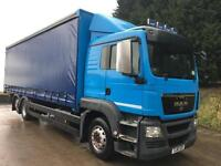2011 61 MAN TGS 26.400 6X2 sleeper cab 27ft6 curtainsider under-slung tail-lift