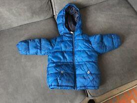 Zara blue padded jacket age 18-24 months £4.50
