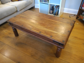 Maharani Wood Rustic Coffee Table - Excellent Condition