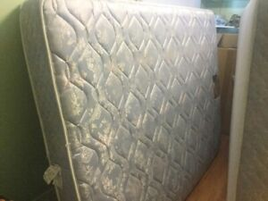 free delivery- queen mattress and boxspring