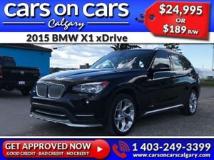 2015 BMW X1 xDrive w/Leather, PanoRoof, BlueTooth $189B/W INSTAN