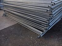 🔨🌟New Round Top Metal Heras Style Fence Panels