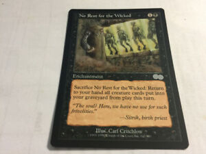 1998 NO REST FOR THE WICKED #142 Magic The Gathering Urza's Saga