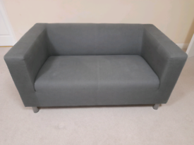 2 x grey 2 seater IKEA Klippan sofa