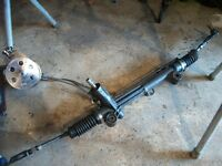 BRAND NEW STEERING RACK /CROME PUMP