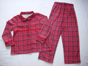 GIRL 6-7 PLAID 2PC PJ'S