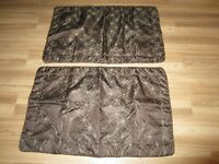 BROWN DECORATIVE PILLOW CASES