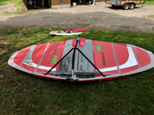 Kite wing and surf board