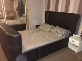 Double black tv bed