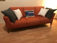 Beautiful almost new Italian Busnelli design 3 seat sofa
