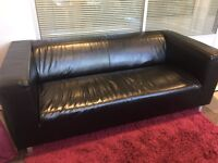 IKEA KLIPPAN 3 seater leather sofa