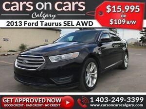 2013 Ford Taurus SEL AWD w/Leather, Sunroof, Backup Cam, Navi $1