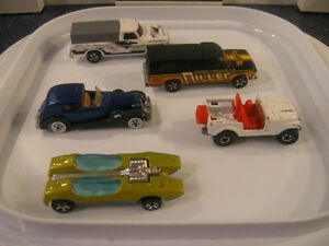 ....Five HOT WHEELS DINKY TOYS....