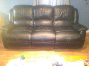 Leather Recliner sofa and love seat for sale.