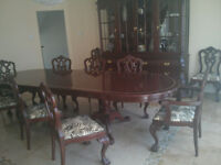 exclusive high end solid wood dinning set