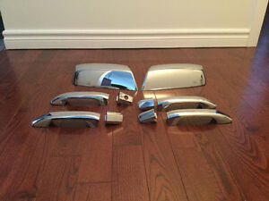 Chrome mirror caps and door handles