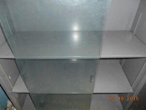 vintage metal bookcases with glass doors Kitchener / Waterloo Kitchener Area image 2