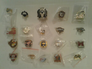 NHL hockey 34 pin lot.