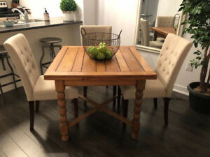 Retro Wood Butterfly Table (expands on both ends)