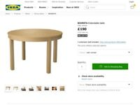Ikea Bjursta Oak table