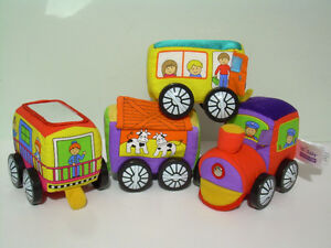 3 Sets - IQ BabyTrains, Baby Einstein & Ikea Baby Block Sets
