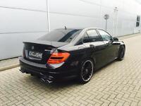 2011 61 reg Mercedes-Benz C63 6.3 AMG Edition 125 Black Saloon + HUGE SPEC
