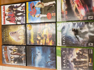 Movies Xbox 360 n Xbox one games for sale