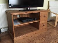 Solid pine bespoke TV stand